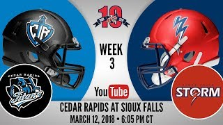 Week 3 | Cedar Rapids Titans at Sioux Falls Storm