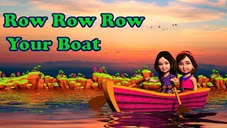 New row row row your boat song with lyrics, wheels on the bus nursery rhymes from MUM MUM TV