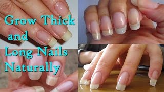 Grow Thick and Long Nails Naturally at Home