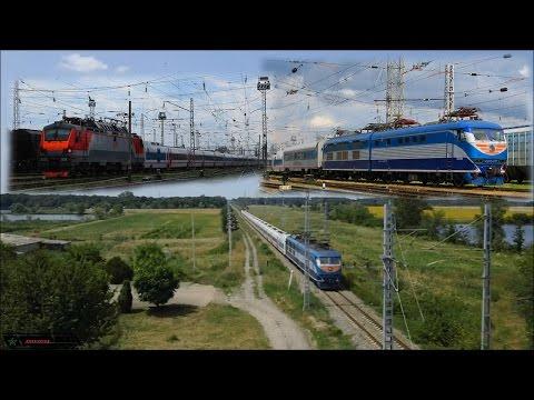 Испытания поезда Тальго с ЭП20-009 и ЧС200-010.  Белореченск