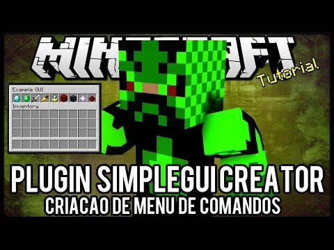 [Tutorial]SimpleGUI Creator - Criação de Menu de Comandos Minecraft