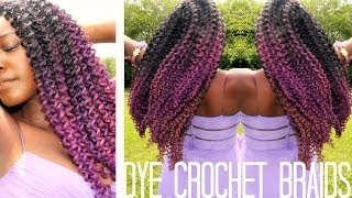 Crochet Braids Old School : How To Dye Synthetic Crochet Braids ?