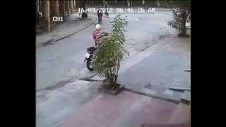 Trộm xe SH gặp xe có gắn khóa chống trộm(Chống trộm xe máy  ROBO)
