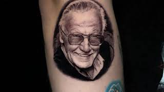 Stan Lee Micro Portrait Tattoo Time Lapse | Pony Lawson