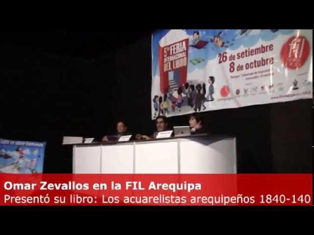 Omar Zevallos presentó su libro: Los acuarelistas arequipeños 1840 - 1940