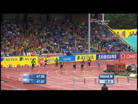 men&#039;s 400 m hurdles Diamond League Aviva Birmingham Grand Prix 2011