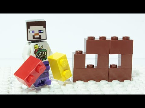 Lego Minecraft Brick Building House Animation for Kids
