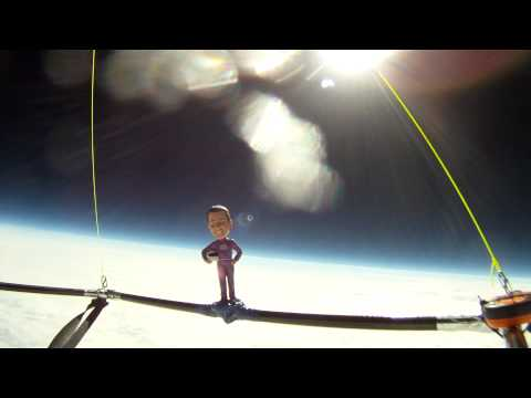 High Altitude Weather Balloon Launch - Bobblehead in Space Raises Awareness of the Needs of Seniors