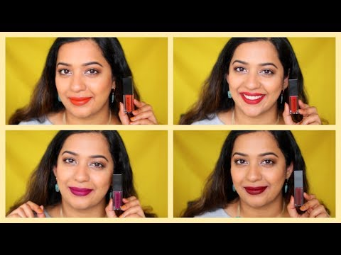 Smashbox Always On Liquid Lipstick Review and Swatches on Indian skintone