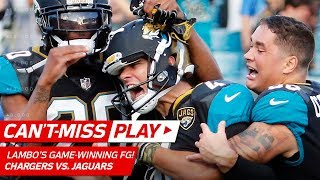 Bouye's Leaping INT Sets Up Game-Winning FG That Just Squeaks In! | Can't-Miss Play | NFL Wk 10