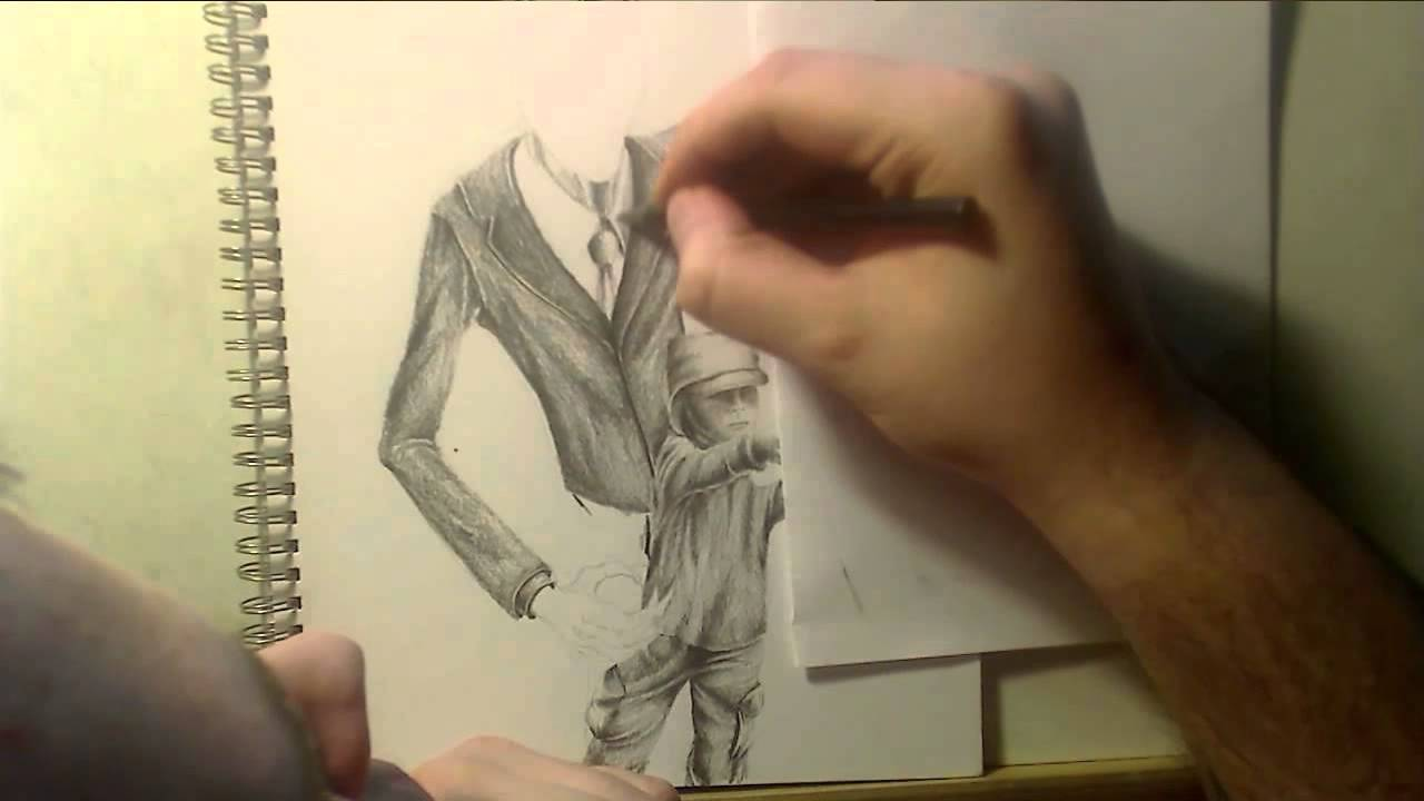 Slender Man Easy Drawing Zooc Draws Slenderman