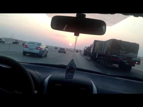 Drive through Dammam - riyadh highway
