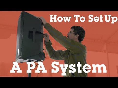 Setting up a basic P.A. system   Crutchfield video