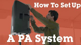Setting up a basic P.A. system | Crutchfield video