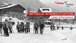 Aktuelle Schneesituation in  St. Anton am Arlberg - 10.01.2019