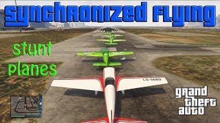 GTA V - Synchronized Flying: Stunt Planes