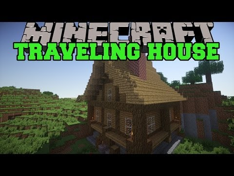 Minecraft: TRAVELING HOUSE MOD PICK UP STRUCTURES AND MOVE THEM Mod Showcase