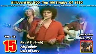 1980 - USA Top 100 Songs of 1980 [1080p HD]