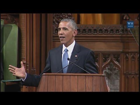 President Obama Addresses Parliament