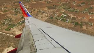 Southwest Airlines landing in Midland, TX (737-700)