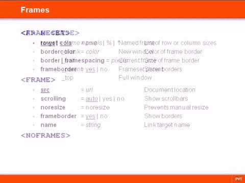 HTML   15   Frames