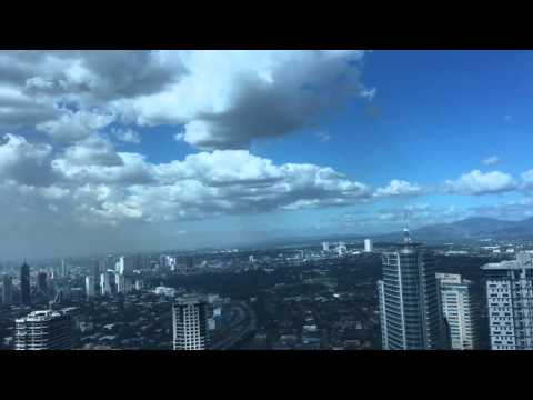 New Philippines' fighter jet (FA-50) flies low over EDSA, Ortigas, Manila