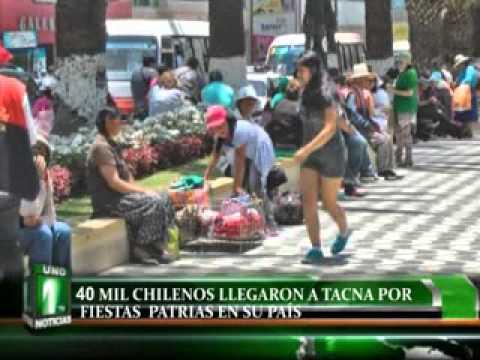 40 MIL CHILENOS LLEGARON A TACNA POR FIESTAS PATRIAS EN SU PAÍS