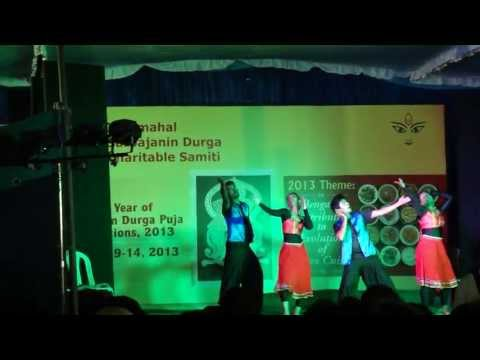 Vaada Maappilley song(Villu) DANCE AT JAY MAHAL DURGA PUJA 2013BANGALORE...