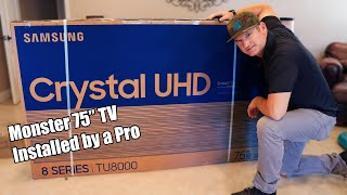 02. 2020 Samsung TU8000 UHD TV Unboxed and Installed on Everstone Tilt Mount