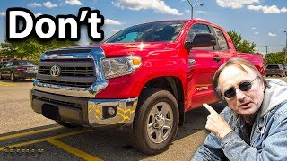 Why Not to Buy a Toyota Tundra