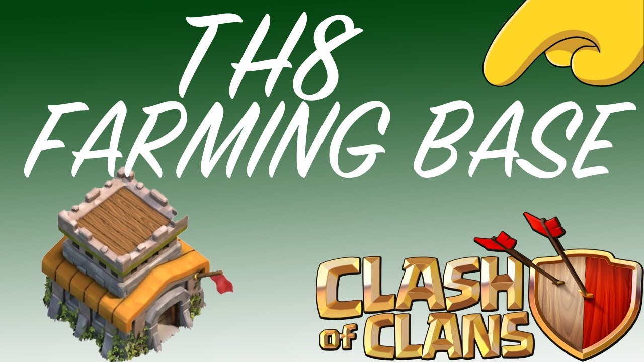 1280 x 720 jpeg 132kB, Clash of Clans Th8 Farming Base