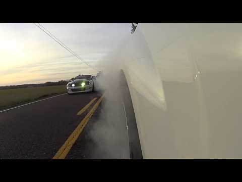 10 Second pass + Burnout Teaser S197 Shelby GT500 Vs. Mustang GT (Both