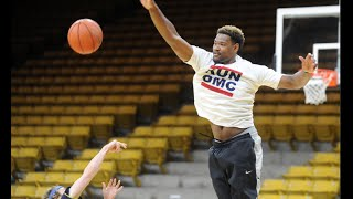 5-foot-3 journalist tries to score on CU Buffs hoopers