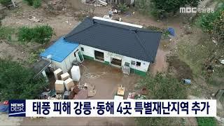 태풍 미탁 피해 강릉, 동해 4곳 특별재난지역 추가