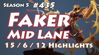 SKT T1 Faker - Azir vs Yasuo - KR LOL SoloQ Highlights