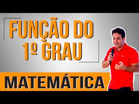 Matemática : Função de 1º Grau