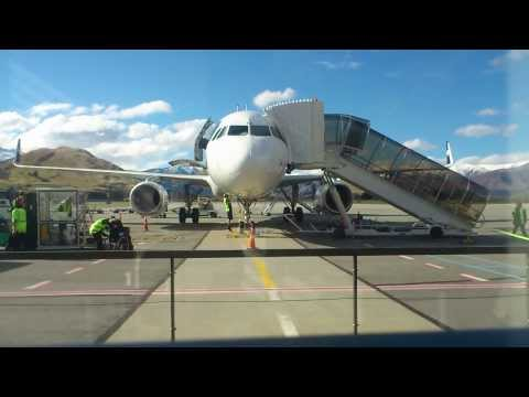 Air New Zealand turn around @ Queenstown airport