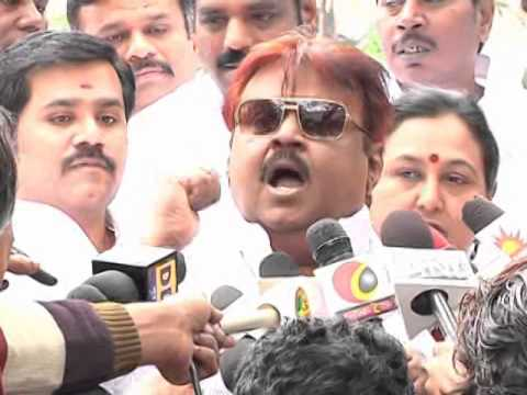 VIJAYAKANTH ANGRY ON JAYA TV REPORTER