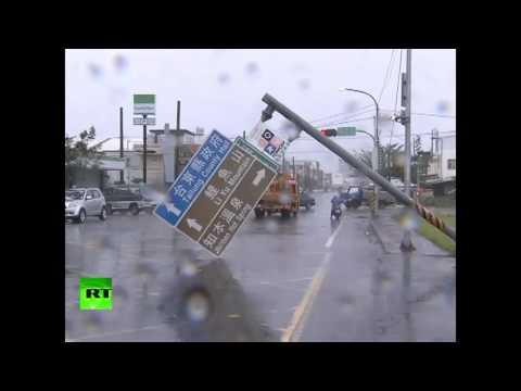 Destruction & Devastation: Typhoon Nepartak slams into Taiwan