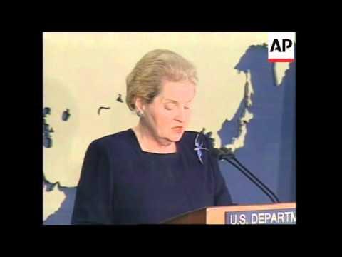USA: US SECRETARY OF STATE MADELEINE ALBRIGHT PRESS CONFERENCE