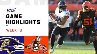 Ravens vs. Browns Week 16 Highlights | NFL 2019