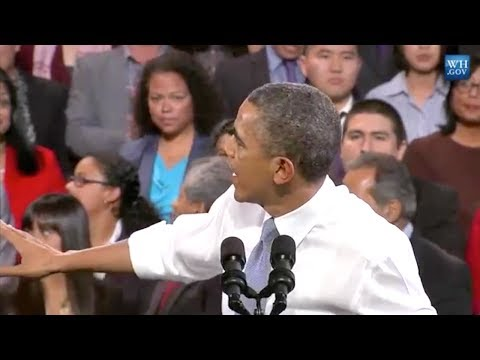 Obama Interrupted By Immigration Activist During Speech
