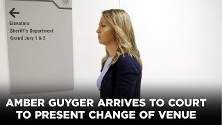 Amber Guyger arrives to court to present change of venue