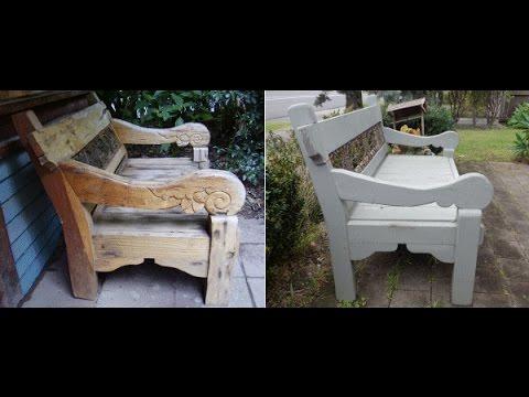 building a park bench plans