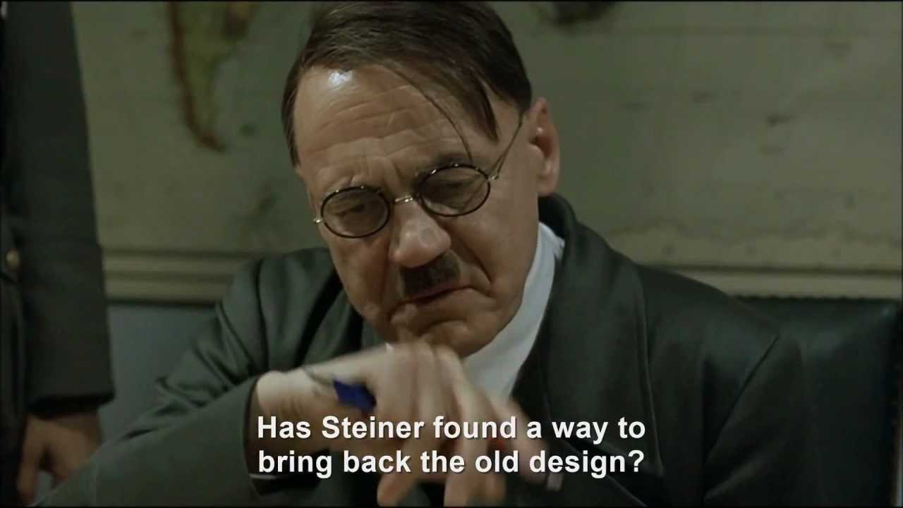 Hitler rants about the new YouTube design