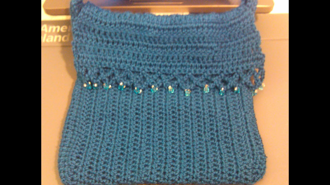 Easy to crochet messenger bag / bolsa en crochet - YouTube
