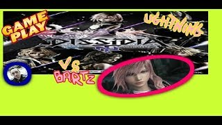GamePlay Dissidia Lightning Battle vs Bartz