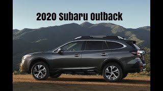 All New 2020 Subaru Outback Crossover FIRST Driving Scenes + Interior