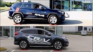 New 2019 Toyota RAV4 AWD vs Honda CR-V AWD - 4x4 test on rollers