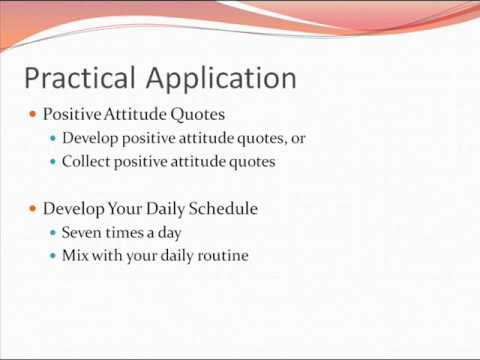 Positive Attitude Quotes Seven Times A Day Video